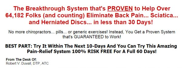 The Back Pain Relief System