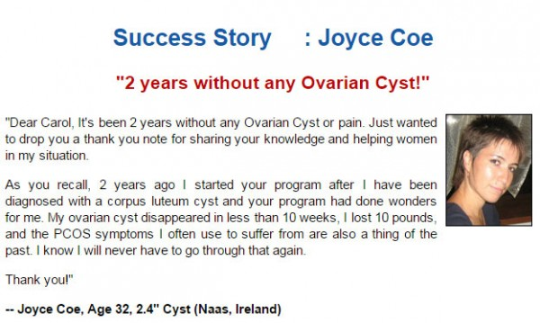 Ovarian Cyst Miracle Success