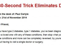 Paul Carlyle Diabetes Miracle Cure
