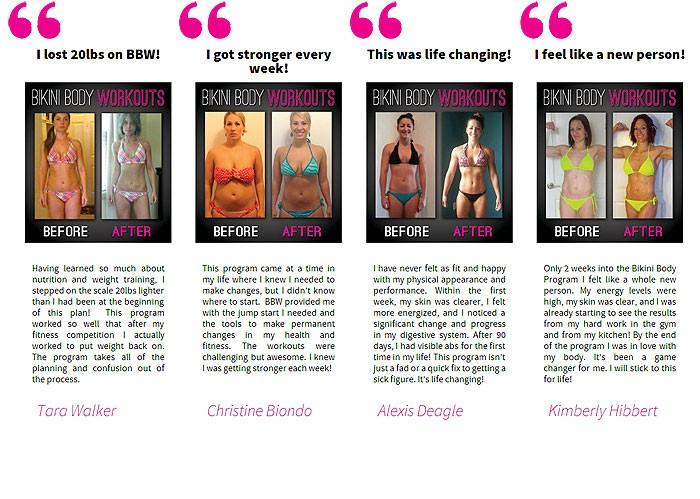 bikini body workouts review