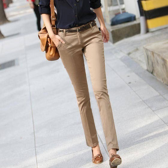 Stylish And Up-to-date Khaki Pants For Women