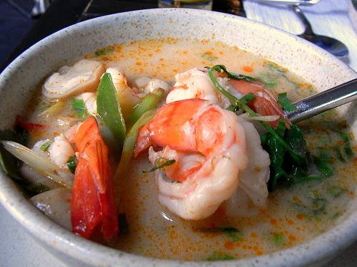 sour shrimp soup photo