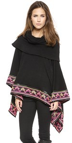 Deserts Embroided Poncho