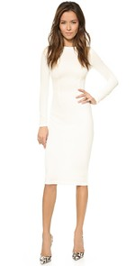 Long Sleeve Dress (White)