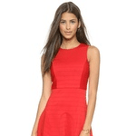 Sleeveless Pintuck Dress
