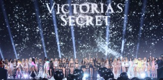 Models display creations at the end of the Victoria's Secret fashion show in London, Tuesday, Dec. 2, 2014. (Photo by Joel Ryan/Invision/AP)