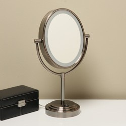 conair oval double-sided lighted mirror