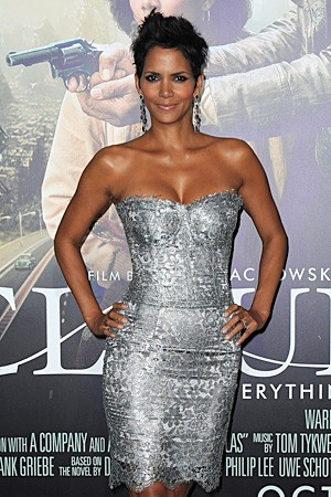 Halle Berry's sexy silver dress