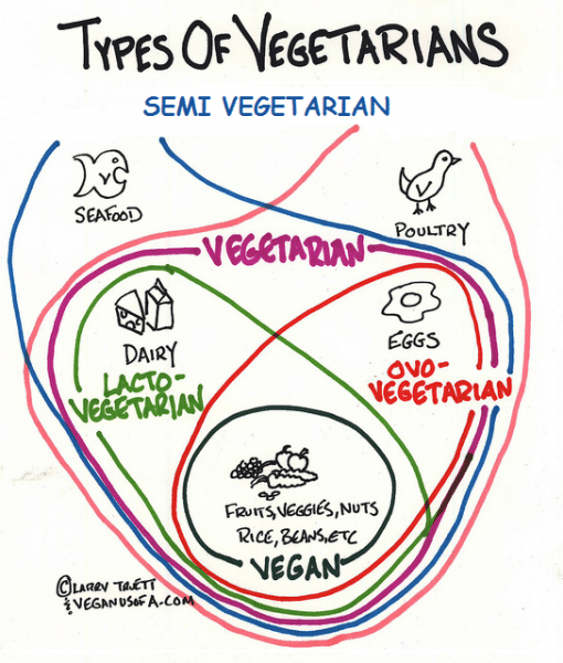 different types of vegetarians