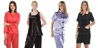 satin pajamas for women