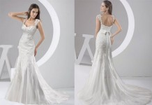 chapel train wedding dress