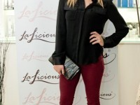 Amy Paffrath in Triarchy Oxblood High Waisted Skinny Jeans