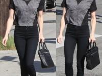 How to Wear High-Waisted Skinny Jeans Like Emma Roberts